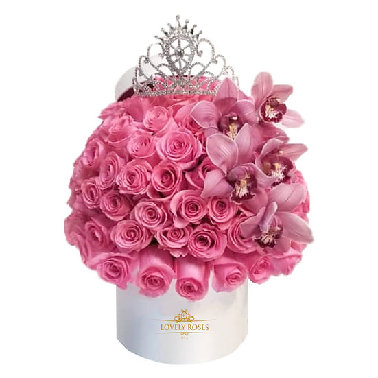 Queen Deluxe Light Pink Natural Roses/ONLY IN MIAMI