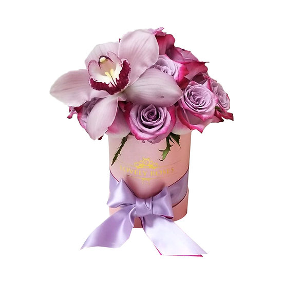 Mini Bouquet Natural Roses with Orchids/Deliver Only In Miami