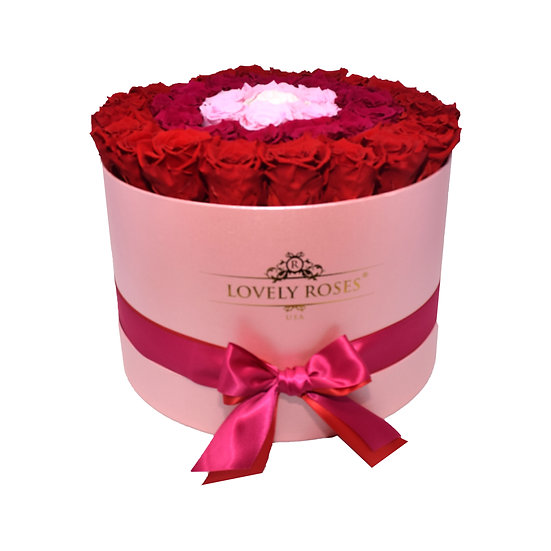 Extra Large Round Degrading Purple Preserved Roses