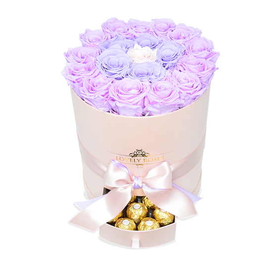 Large Round Grading Purple Preserved Roses