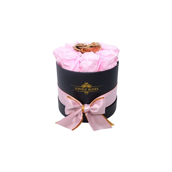 Small Round Pink Preserved Roses