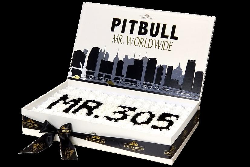 Pitbull Celebrity Box Preserved Roses (Sample)/DELIVERY ONLY IN MIAMI