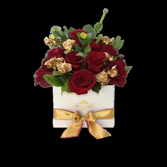 Medium Square Natural Roses/ONLY IN MIAMI