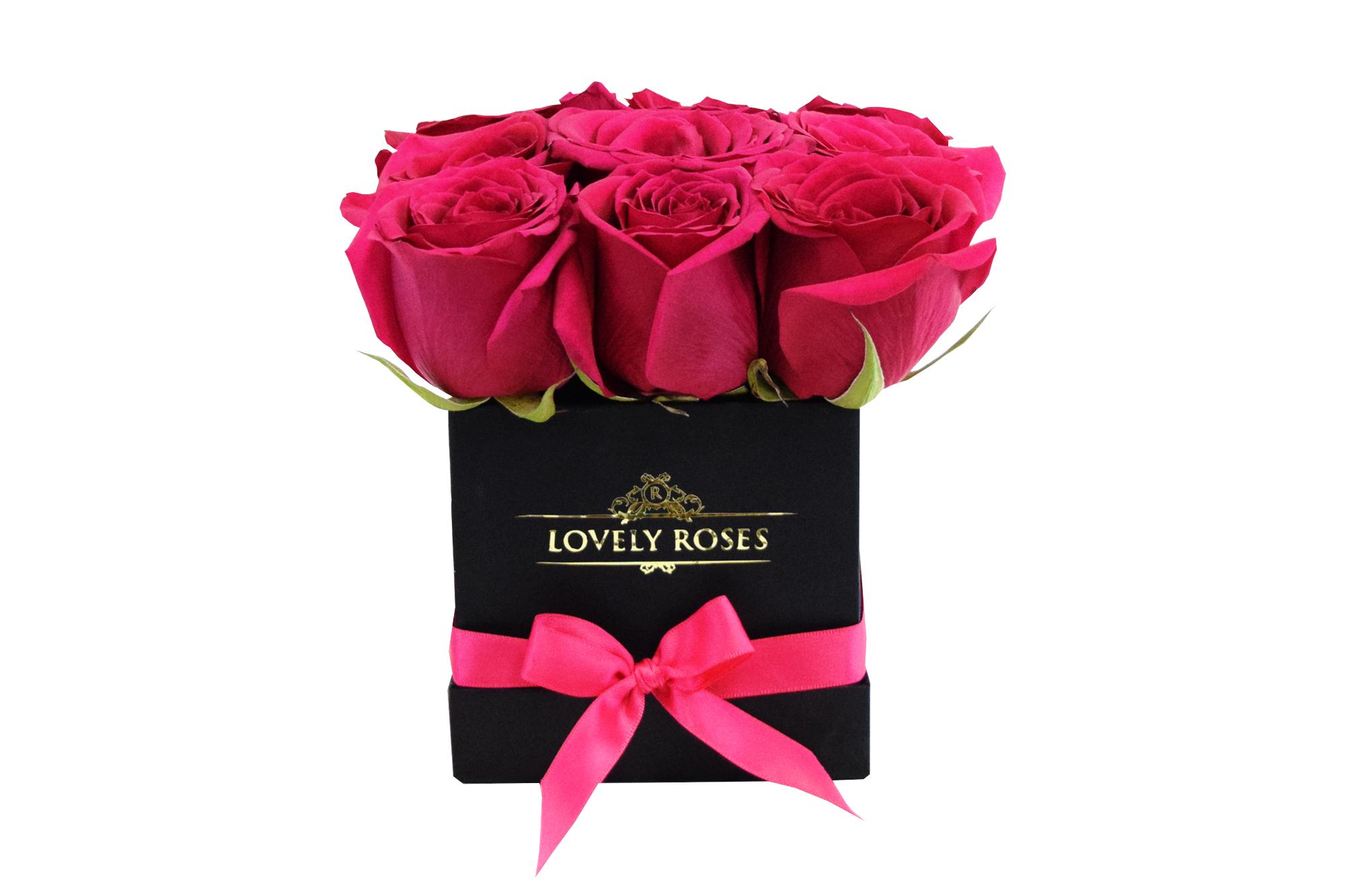 NATURAL ROSES MINI BOX