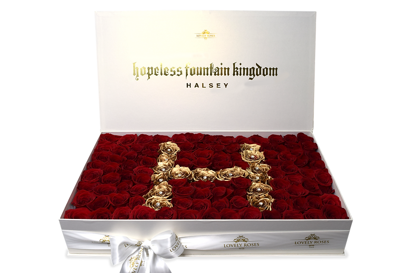 Halsey Celebrity Box Natural Roses (Sample)/DELIVERY ONLY IN MIAMI
