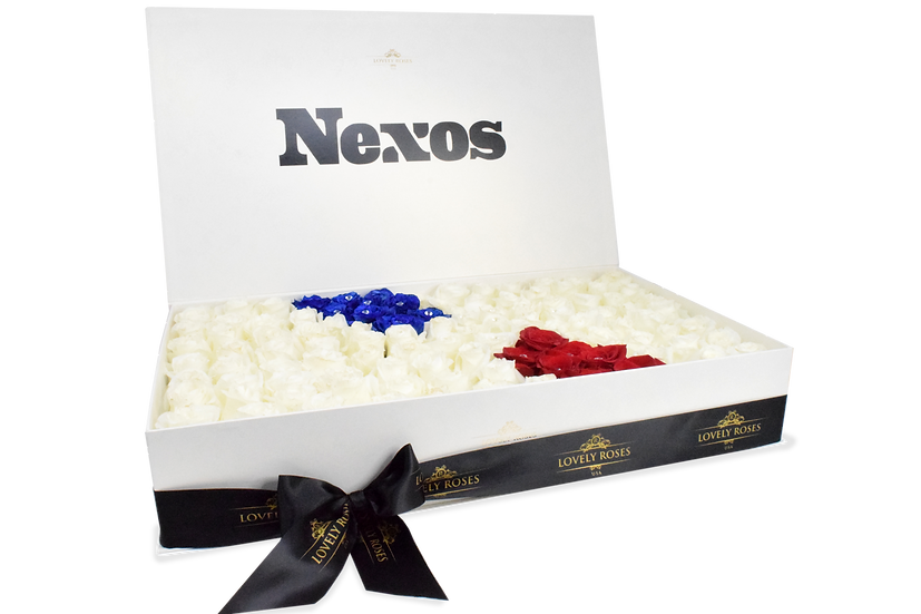 Nexos Celebrity Box Natural Roses (Sample)/DELIVERY ONLY IN MIAMI