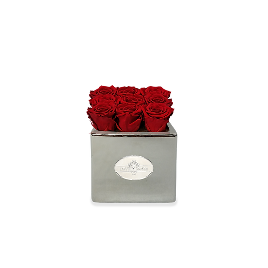 Small Square Red Preserved Roses