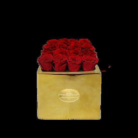 Medium Square Red Preserved Roses