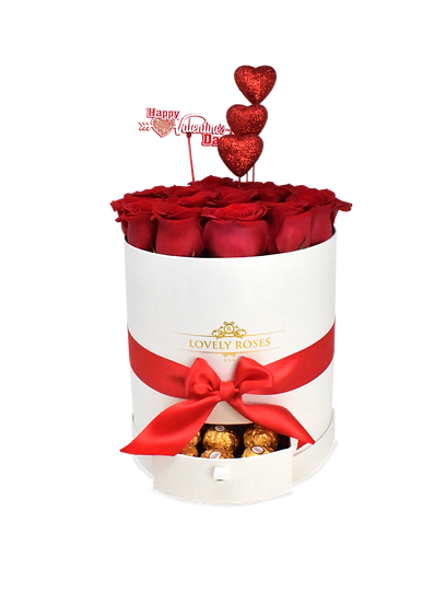 Drawer Round Collection Natural Red Roses/ONLY IN MIAMI