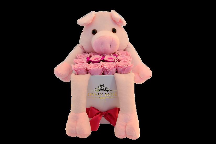 Lovely Pig Preserved Roses