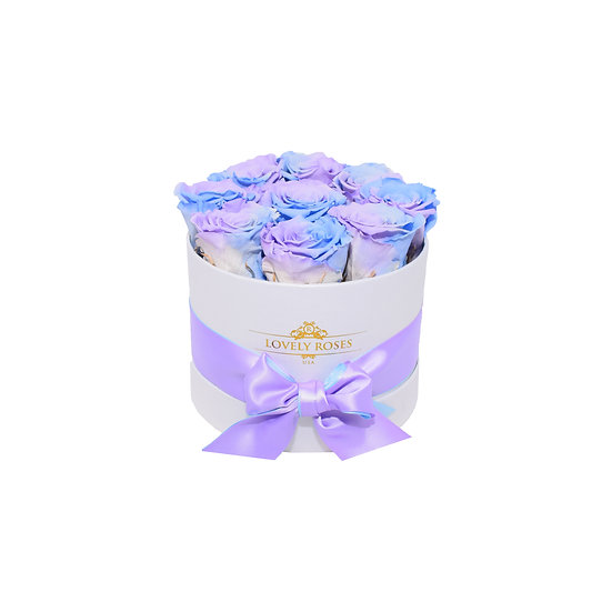 Small Round Preserved Easter Color Roses