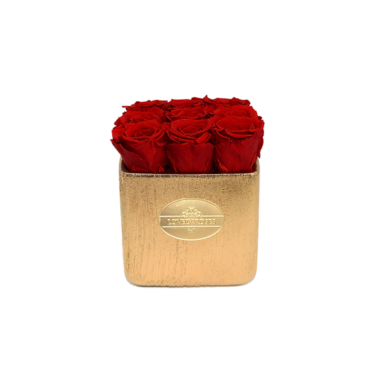 Small Square Red Preserved Roses (Rustic)