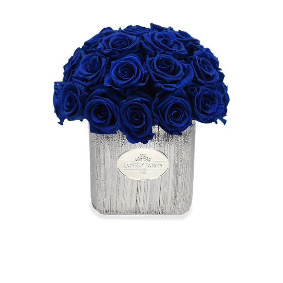 Home Collection Royal Blue Preserved Roses