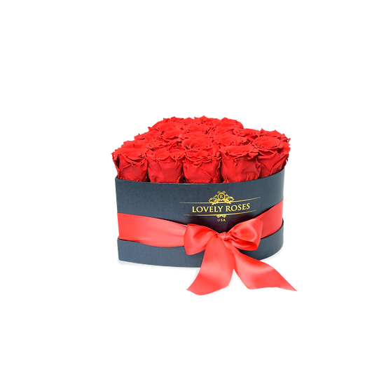 Small Heart Collection Preserved Red  Roses