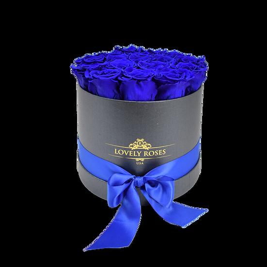Medium Round  Royal Blue Preserved Roses