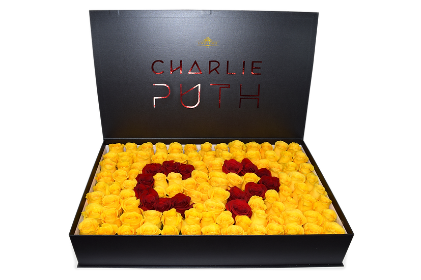Charlie Puth Celebrity Box Natural Yellow Roses (Sample)/DELIVERY ONLY IN MIAMI