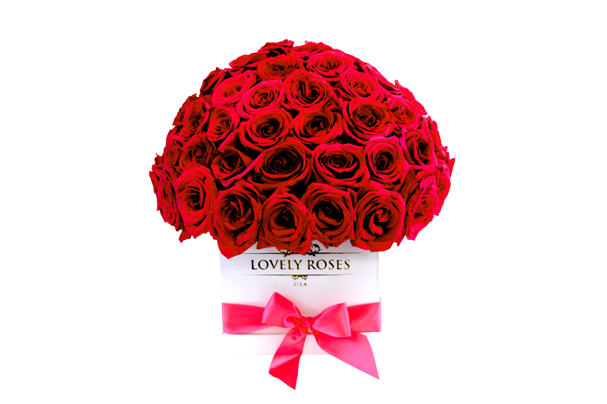 SUPER DELUXE NATURAL ROSES WHITE BOX