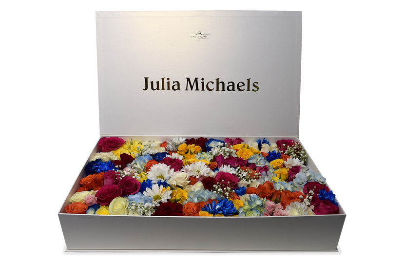 Julia Michaels Celebrity Box Natural Roses (Sample)/DELIVERY ONLY IN MIAMI