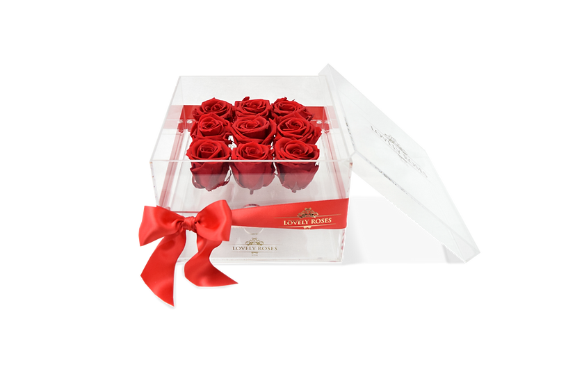 Small Acrylic Premium Preserved Roses