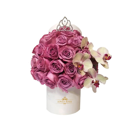 Princess Deluxe Dark Pink Natural Roses/ONLY IN MIAMI