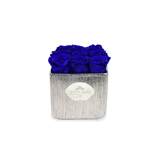 Logo Small Square Preserved Blue Roses