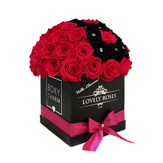 Customized Super Deluxe Red Preserved Roses