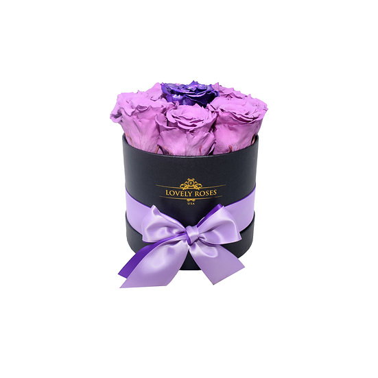 Small Round Lavender Preserved Roses