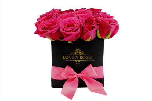 Medium Natural Fuchsia Roses Only In Miami Preserved Fl 33166 Lovely