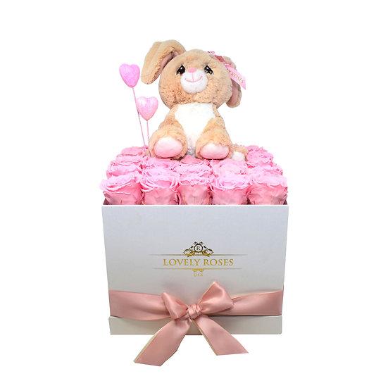 Rabbit Pink Preserved Roses