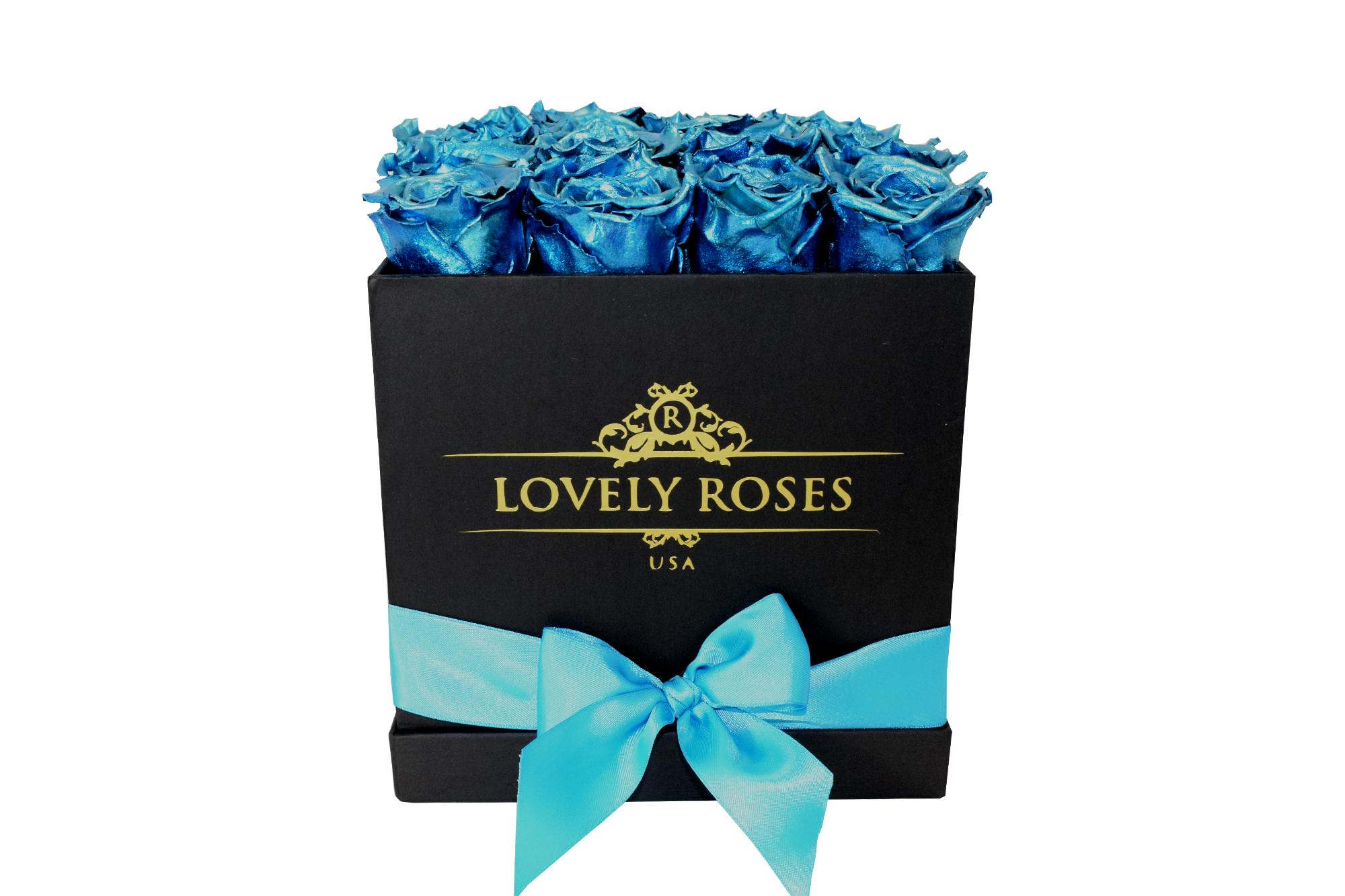 EXCLUSIVE SILVER BLUE BLACK BOX