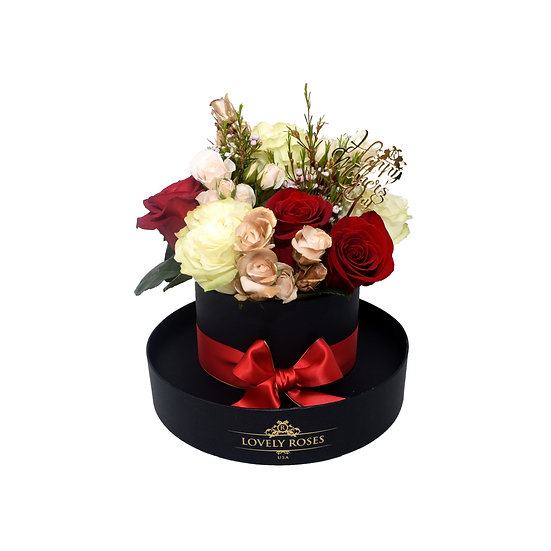Mother's Day Special Round Natural Roses/ONLY IN MIAMI
