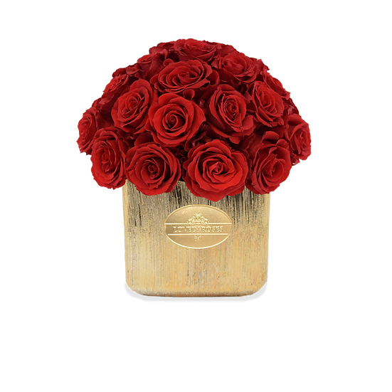 Mini Deluxe Preserved Red Roses (Rustic)