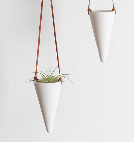 Tapered Hanging Vine Planter or Airplant Holder