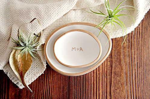 Personalized Nesting Trinket Bowls Wedding Gift