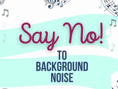 Say No To Background Noise