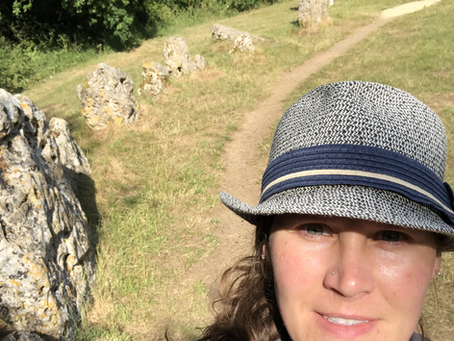 Rolling Right Along At Rollright Stones, Oxforshire, England