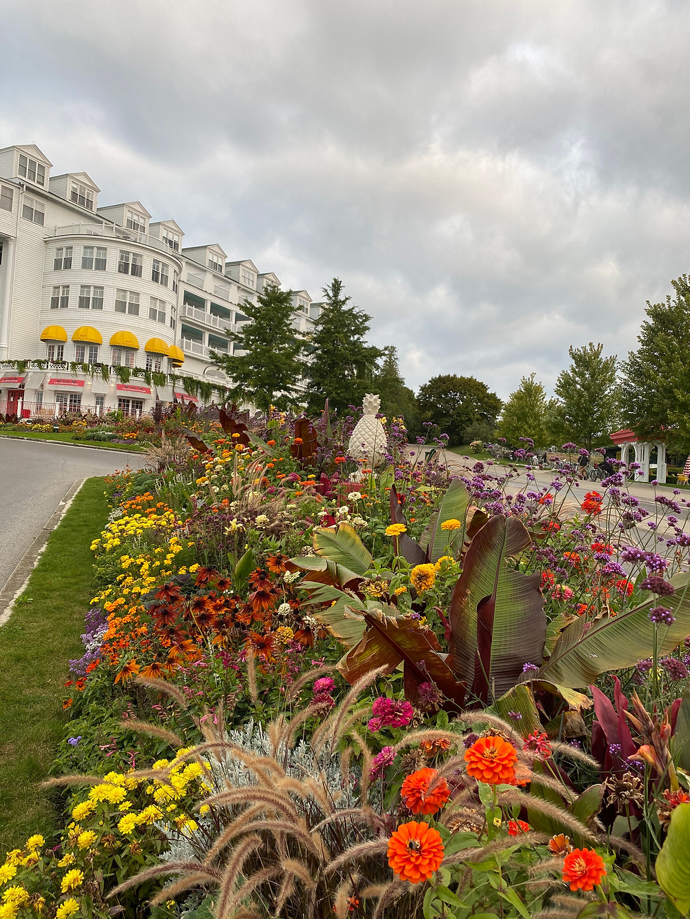 Mackinac Island | The Grande Hotel, Hotel front and gardens
