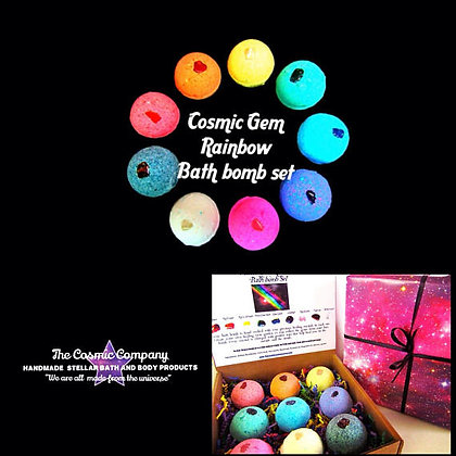 Cosmic Gem Healing Rainbow Bath Bomb Set