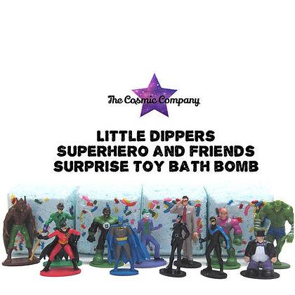superhero, bath bomb, surprise toy bath bomb, superman, batman, superwoman, superhero party, favors, kids bath bombs, DC