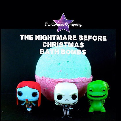 the nightmare before christmas, bath bomb, jack skelington, oggy boggy, funko, surprise toy bath bomb