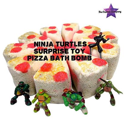 ninja turtles, pizza, bath bomb, pizza bath bomb, TMNT, toy bath bomb