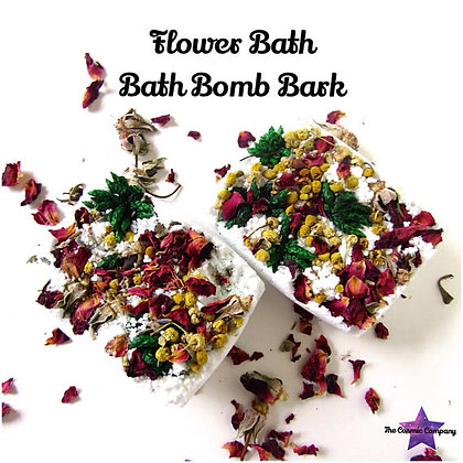 flower Bath Bomb Bark 2 pack