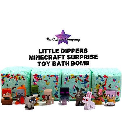 bath bombs, toy bath bombs, minecraft, creeper, christmas, kids bath