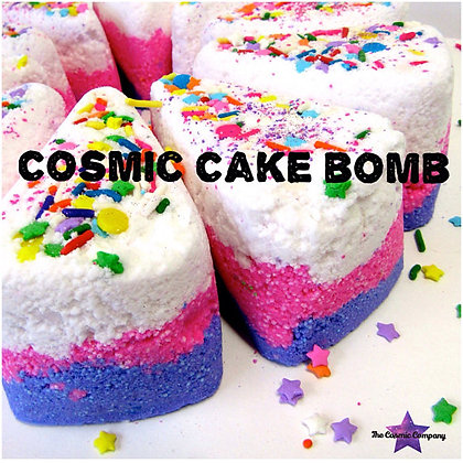 cosmic cake, bath bomb, cake bath bomb, cosmic