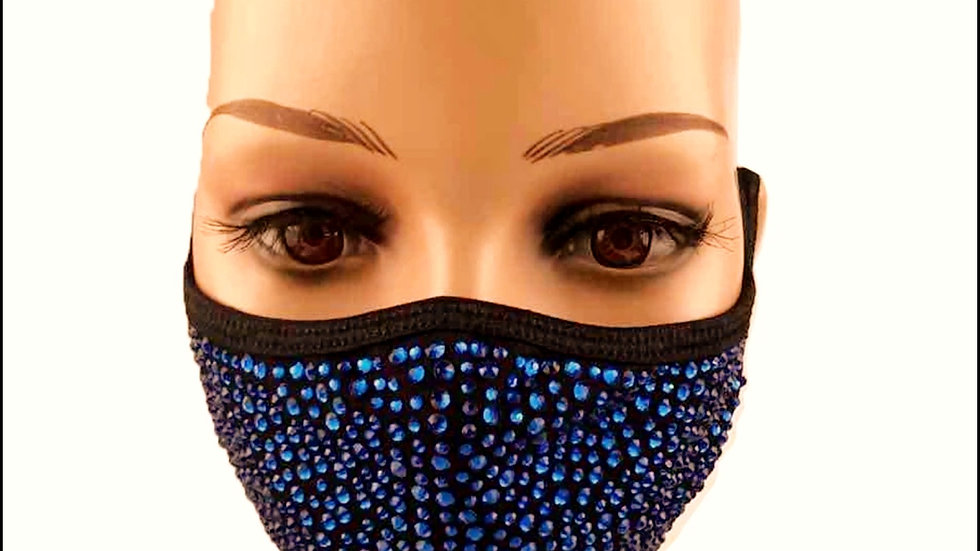 Blue Crystal Mask