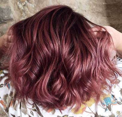 Coloration rose gold, coiffeur lyon, coiffeur lyon 6, lyon 6, coupe, wave