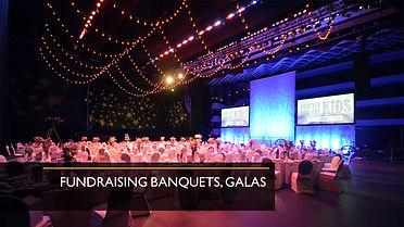 Fundraising Banquets, galas