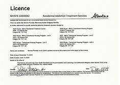 alberta Residential treatment services licence