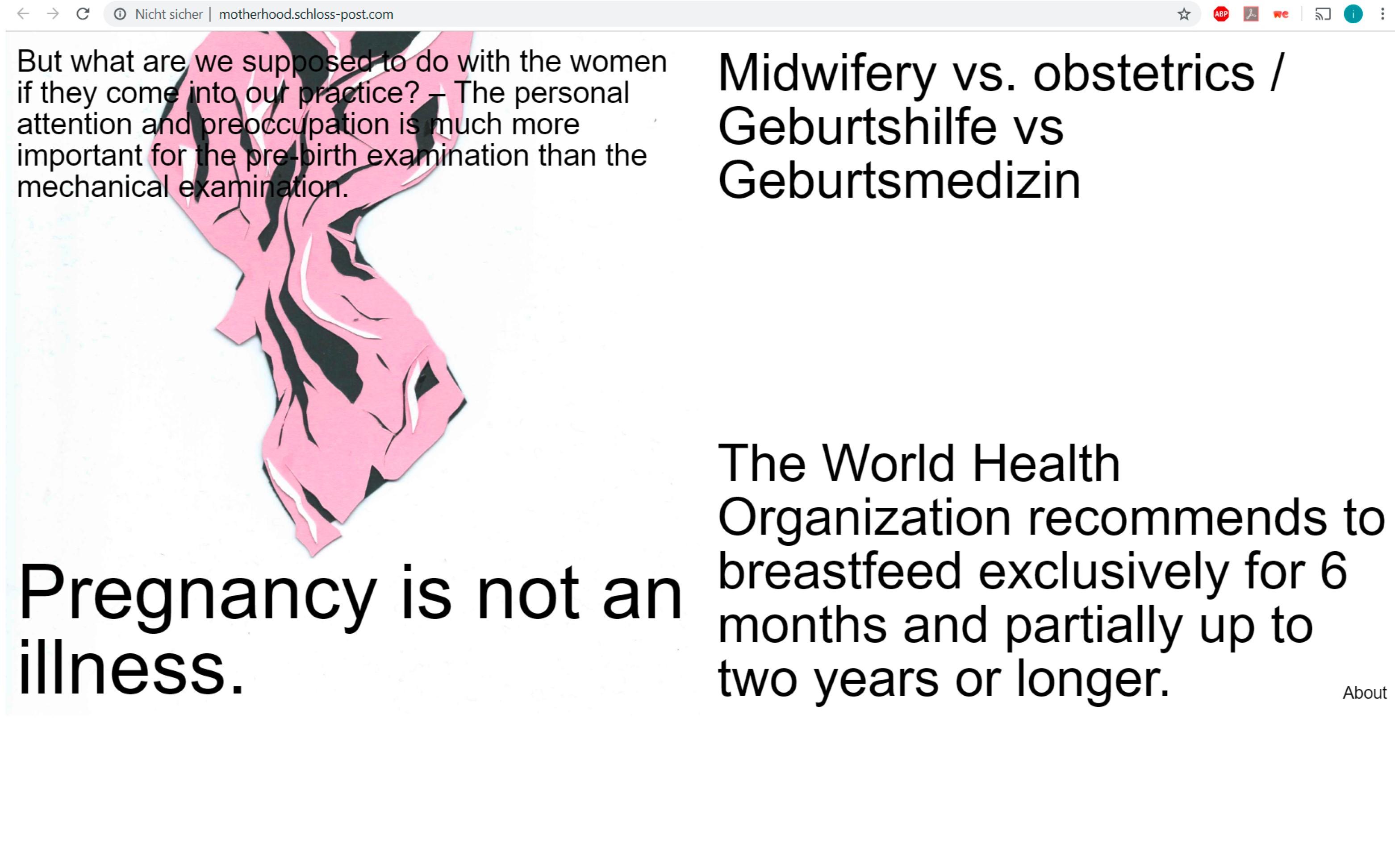 Mutterschaft scherenschnitt, papercut , rosa, black, illustration, Berlin, stuttgart, Jasmin schädle