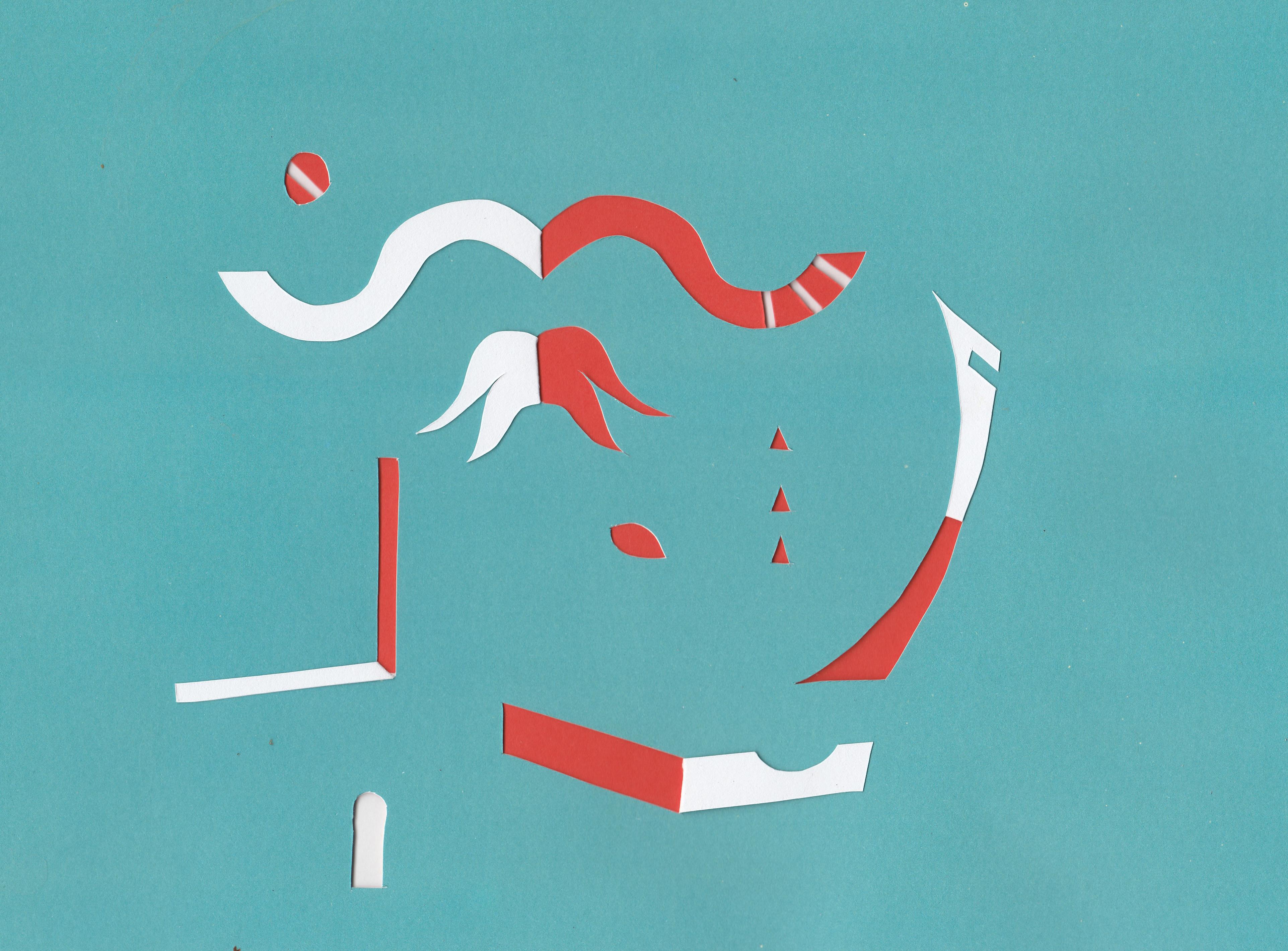 Kreativer Scherenschnitt , paperart, Illustration, Editorial